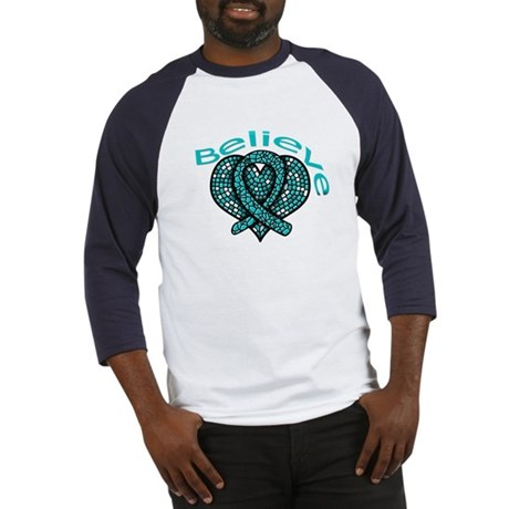OvarianCancer BELIEVE Baseball Jersey
