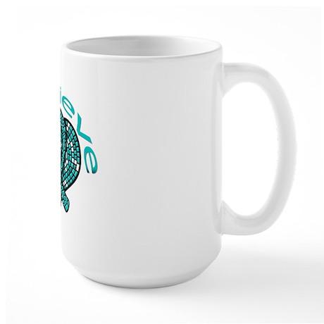 OvarianCancer BELIEVE Large Mug