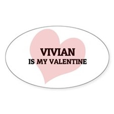 Vivian Is My Valentine Oval Decal