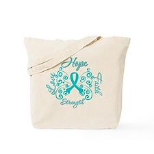 OvarianCancer HopeStrength Tote Bag