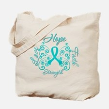 OvarianCancer HopeStrength Tote Bag