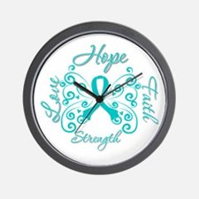 OvarianCancer HopeStrength Wall Clock