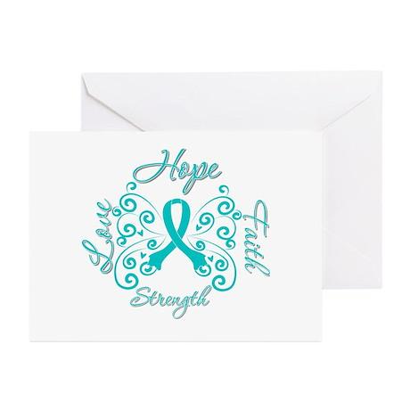 OvarianCancer HopeStrength Greeting Cards (Pk of 1