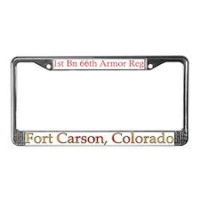 1st Bn 66th AR License Plate Frame