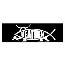 Heathen Fish Bumper Bumper Sticker