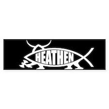 Heathen Fish Bumper Car Sticker