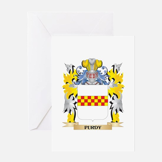 Purdy Family Crest - Coat of Arms Greeting Cards