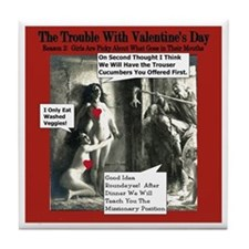 Anti Valentines Vegan Tile Coaster