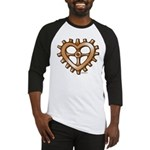 Heart-Shaped Gear Baseball Jersey