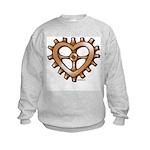 Heart-Shaped Gear Kids Sweatshirt