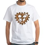 Heart-Shaped Gear White T-Shirt