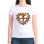Heart-Shaped Gear Jr. Ringer T-Shirt