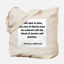 Jefferson Tree of Liberty Quote Tote Bag