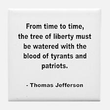 Jefferson Tree of Liberty Quote Tile Coaster
