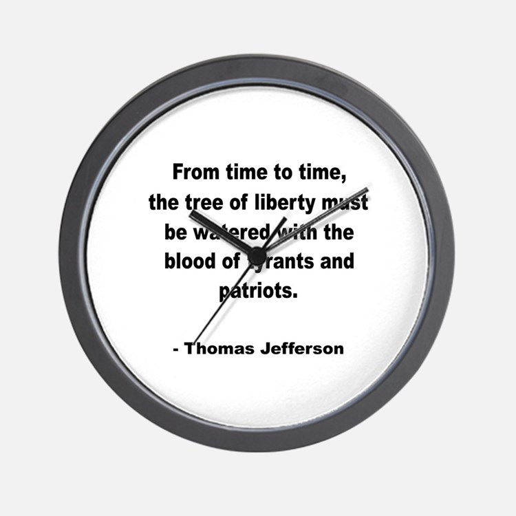 Jefferson Tree of Liberty Quote Wall Clock