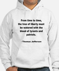 Jefferson Tree of Liberty Quote (Front) Hoodie