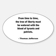 Jefferson Tree of Liberty Quote Oval Decal