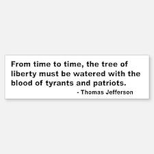 Jefferson Tree of Liberty Quote Bumper Bumper Bumper Sticker