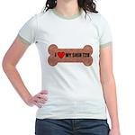 I LOVE MY SHIH TZU Jr. Ringer T-Shirt