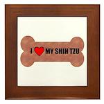 I LOVE MY SHIH TZU Framed Tile