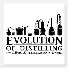 """Evolution Of Distilling Square Car Magnet 3"""""""