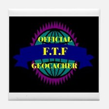 FTF Black/Purple Tile Coaster