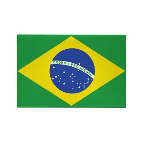 Brazil Rectangle Magnet (100 pack)