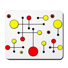 Red & Yellow Dot Dash Mousepad