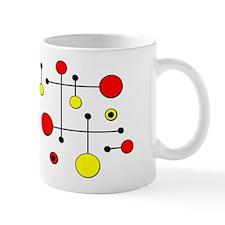 Red & Yellow Dot Dash Mug