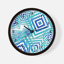 Atomic Blue Prizm Wall Clock