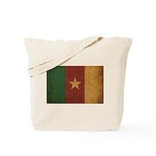Vintage Cameroon Flag Tote Bag