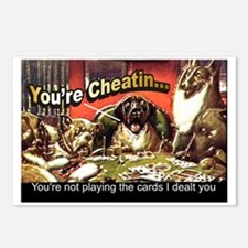 Poker Playin Dogs ~ Postcards (Package of 8)