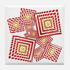 Atomic Red Prizm Tile Coaster