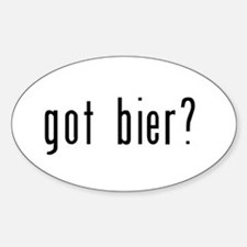 got bier? Sticker (Oval)