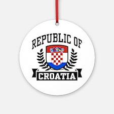 Republic of Croatia Ornament (Round)