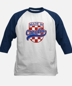 Made In Croatia Kids Baseball Jersey