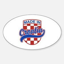 Made In Croatia Sticker (Oval)
