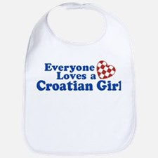 Croatian Girl Bib