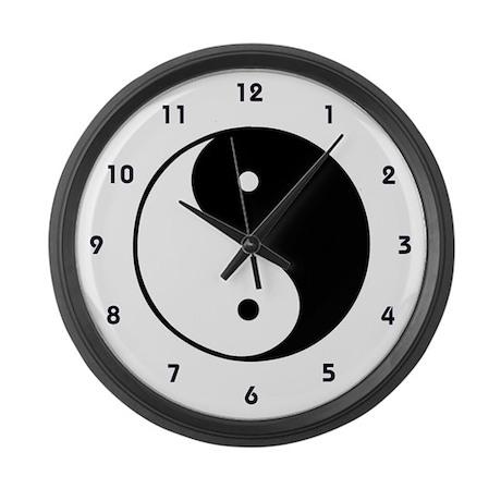 Yin Yang Large Wall Clock