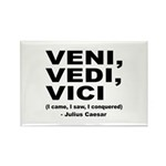 Veni Vedi Vici Caesar Quote Rectangle Magnet (10 p