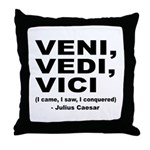 Veni Vedi Vici Caesar Quote Throw Pillow