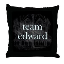 Team Edward Gothic Throw Pillow