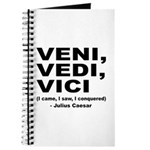 Veni Vedi Vici Caesar Quote Journal