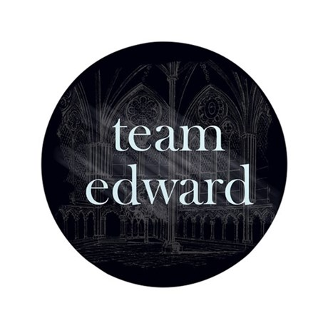 "Team Edward Gothic 3.5"" Button"