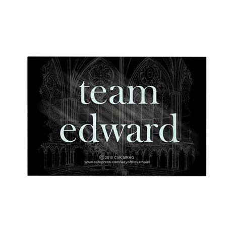 Team Edward Gothic Rectangle Magnet (10 pack)