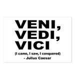 Veni Vedi Vici Caesar Quote Postcards (Package of