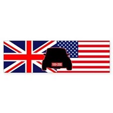 UK-US flag Mini Bumper Sticker