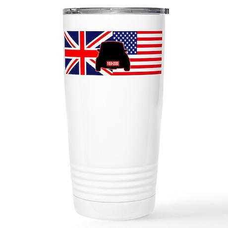 UK-US flag Mini Stainless Steel Travel Mug