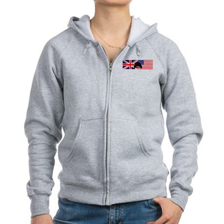 UK-US flag Mini Women's Zip Hoodie