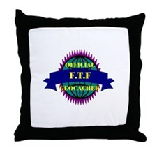 FTF Purple/ White Throw Pillow